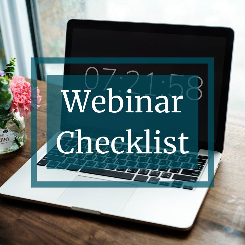 webinar virtual event checklist free offer