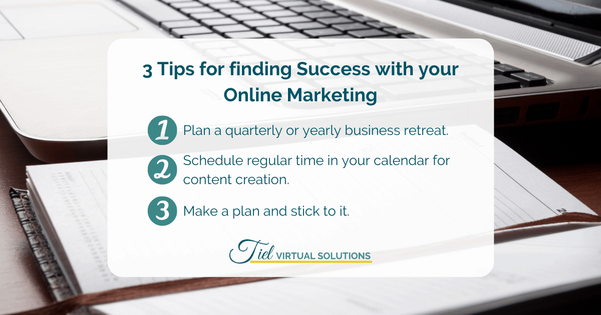 3 tips for finding success with your online marketing content plan